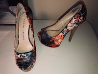 Pair of black and red floral platform stilettos Whitchurch-Stouffville, L4A 0N9