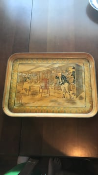 Brown wooden framed painting of people Rossville, 30741
