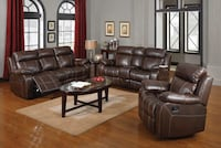 Grand Rio' Top Grain Leather Hand Stitched Reclining Living Room