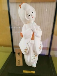 Porcelain Japanese Doll in Glass Case Bowie, 20715