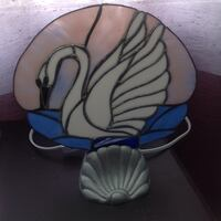 white swan table decor stained glass lamp St Catharines, L2P 1N6