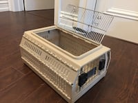 white pet carrier