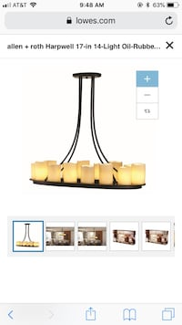 allen + roth Harpwell 17-in 14-Light Oil-Rubbed bronze Mediterranean Tinted Glass Shaded Chandelier Jacksonville, 32246