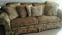 brown floral fabric 2-seat sofa Moncks Corner, 29461