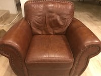 brown leather sofa chair with ottoman Los Angeles, 91356
