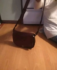 brown and black leather crossbody bag Surrey, V3V 1H1