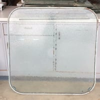 Older patio table top in frame glass is great (legs rusted, had to throw away). LAMIRADA