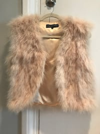 REAL Marabou-feather vest by Adrienne Landau - Size S Arlington, 22206