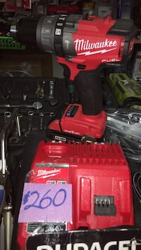 red and black Milwaukee cordless drill with case East Chicago, 46312