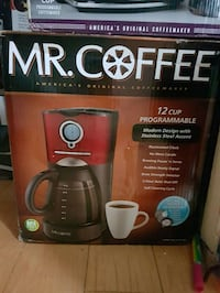 red and black Mr.Coffee 12-Cup programmable coffeemaker box London, N6E 2M2