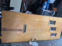 Front entrance wooden heavy duty door