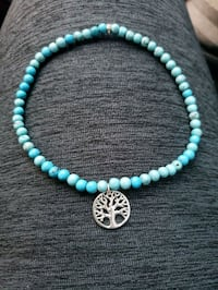 Tree of life bracelet - Sterling Silver and Turquo Norfolk, 23504