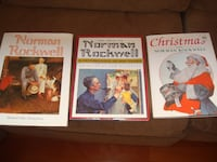 Set of 3 Norman Rockwell hard cover books 252 mi