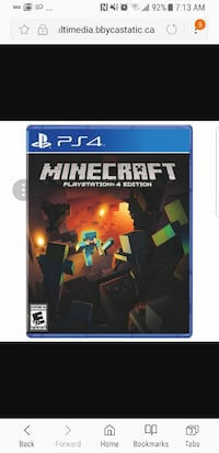 Minecraft Sony PS4 game