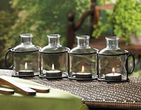 FOUR-BOTTLE CANDLE HOLDER DISPLAY (BRAND NEW IN BOX)  Oshawa, L1K