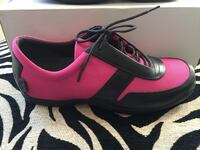 New! Pink and Black Cole Haan Oxfords 6 km