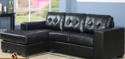 Brand new sectional sofa in black