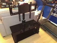 black TV stand with mount Brampton, L6Y 1H3