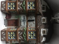 brown and gray building miniature
