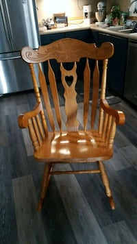brown wooden windsor rocking chair Purcellville