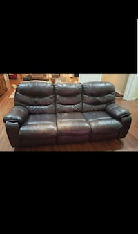 Reclining Leather Sofa  Vienna, 22181
