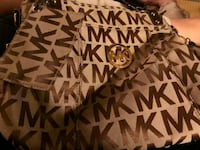brown and white Michael Kors leather tote bag Goldsboro, 27530