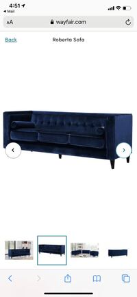 Navy Velvet Couch Great Neck Plaza, 11021