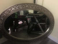 round black wooden framed mirror Calgary, T2A 1M3