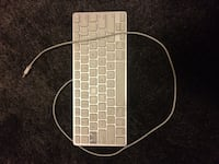White apple corded keyboard Pitt Meadows, V3Y