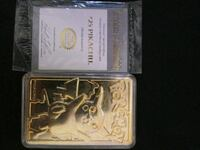 23 karat gold plated trading card Berlin, 06037