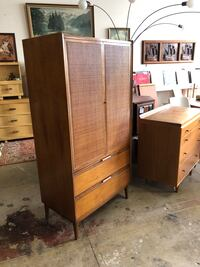 Used American Of Martinsville Mid Century Armoire Hutch