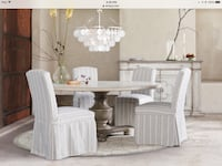 "6 Arhaus custom upholstered slipcovered dining chairs. Just delivered but wrong for ""Our House"" North Potomac, 20878"