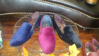 three assorted-color unpaired slip-on shoes Los Angeles