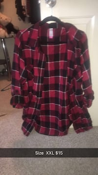 red and black plaid button-up shirt Discovery Bay, 94505