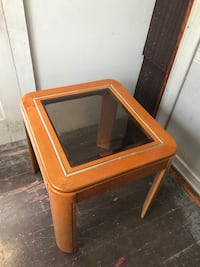 2-wooden end tables with glass center Johnstown, 15904