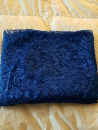 Blue lace (polyester) fabric piece Windsor, N9A 2M5