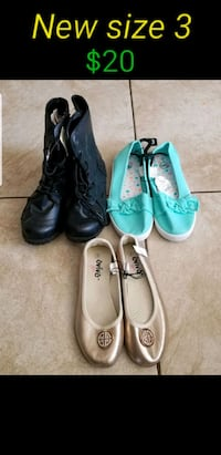 New youth girl shoes size 3 Las Vegas, 89120