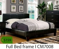 brown wooden bed frame with text overlay La Mirada, 90639