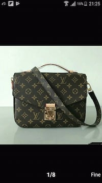 borsa in pelle monogram nera e marrone Louis Vuitton Caselle Lurani, 26853