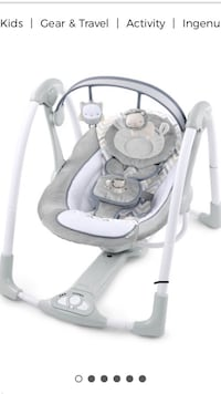 baby's gray and white portable swing 537 km