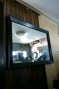 black wooden framed wall mirror New Caney, 77357