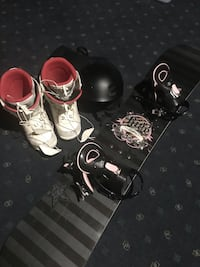 Snowboard, boots and helmet  Oakville, L6H 4X1