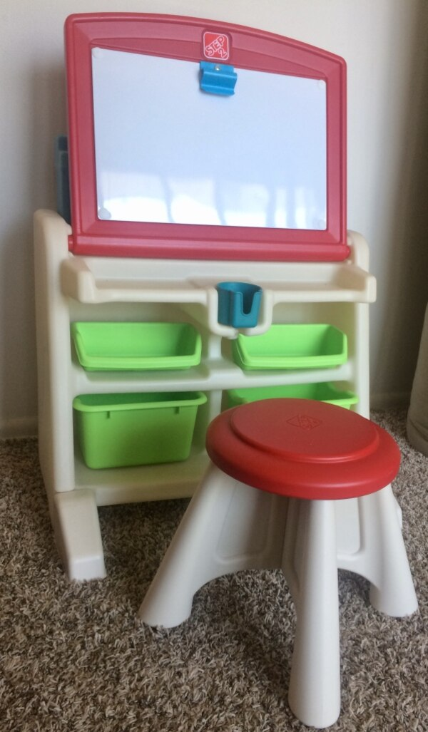 Fabulous Used Step2 Flip Doodle Easel Desk With Stool For Sale In Caraccident5 Cool Chair Designs And Ideas Caraccident5Info
