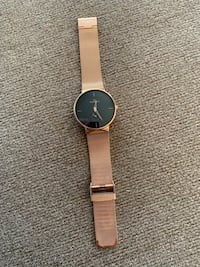 Rose Gold Watch, Pocket Squares, and Ties