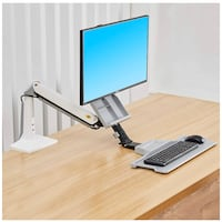 Height Adjustable Monitor Mount Arm with Keyboard Tray New York, 11205