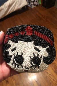 Beaded Betty Boop coin purse