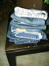 two blue and white denim jeans Pine Mountain, 31822