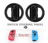 Brand New Seal in Box Steering Wheels Kit for Nintendo Switch Joy-Con Racing Game Controller Attachments Handle Grips Set Hayward, 94544