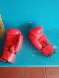 pair of red leather boxing gloves Deerfield Beach, 33441
