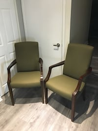 2 chairs - off green colour.  $90 for the set.  551 km